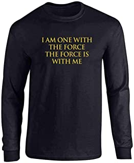 I Am One with The Force The Force is with Me Full Long Sleeve Tee T-Shirt