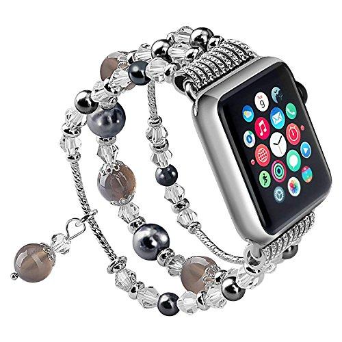 SEANADO Snado Cinturino per Apple Watch 38mm/40mm Perle per Series 4/3/2/1 Cinturino da Donna