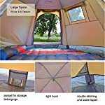 DESERT & FOX Pop up Automatic Tents, 4 5 Person Outdoor