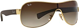 RB3471 Shield Sunglasses, Gold/Brown Gradient, 32 mm