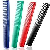 4 Pièces Peignes à Cheveux Colorés Peignes de Coupe de Cheveux Peignes de Coiffure à Tout Usage à Dents Larges et Fines pour Maison et Salons de Coiffure