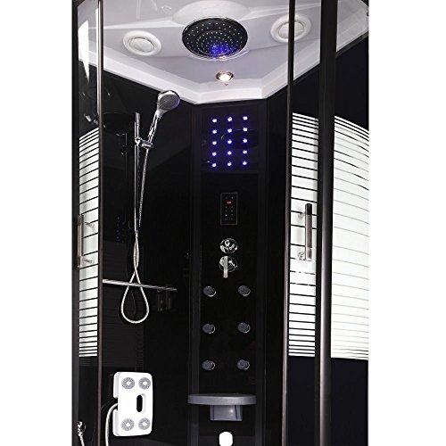 Home Deluxe Black Pearl 90×90 cm Duschtempel, inkl. Dampfsauna und komplettem Zubehör - 2