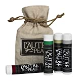 USA Merchant - All Natural Luxury Lip Balm by L'AUTRE PEAU  Essentials Set  Natural Beeswax Shea Butter Aloe & Vitamin-E  Dry Chapped Lips Moisturizer  Acai Berry Peppermint Natural & Vanilla (4Pack)