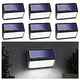EmeritPro Lámpara solar de pared para exteriores, 6 unidades, color blanco frío