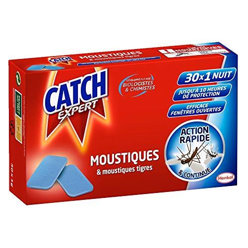 Catch Expert Recharge Tablette Diffuseur Electrique Anti-Moustiques & Moustiques Tigres - 30 X 1 Nuit - 30 Tablettes
