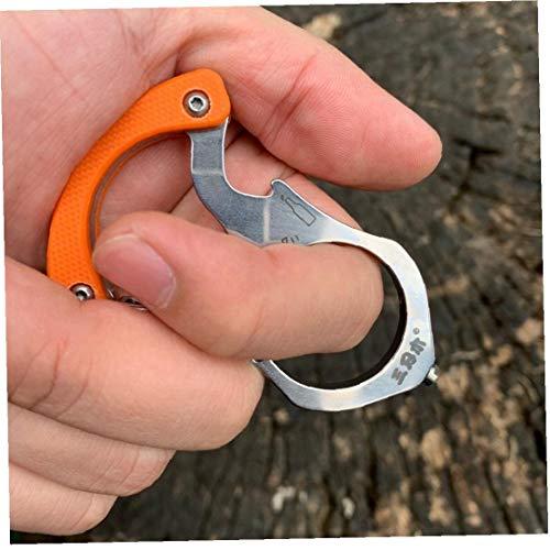 Case&Cover Herramienta multifunción/Anillo/botón de la Llave de la Cadena EDC Herramienta Multiusos al Aire Libre de Rescate Coche trituradora de Vidrio de la Supervivencia de Camping (Color al Azar)