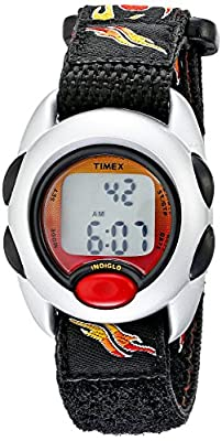 Timex Boys T78751 Time Machines Digital Flames Fast Wrap Velcro Strap Watch from Timex