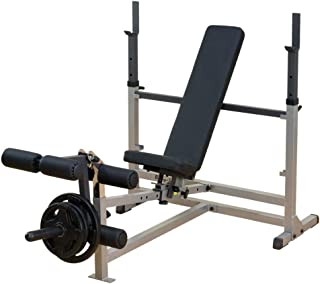 Body-Solid Powercenter Olympic Combo Bench with Preacher Curl and LAT Pulldown Attachment (GDIB46LP4)
