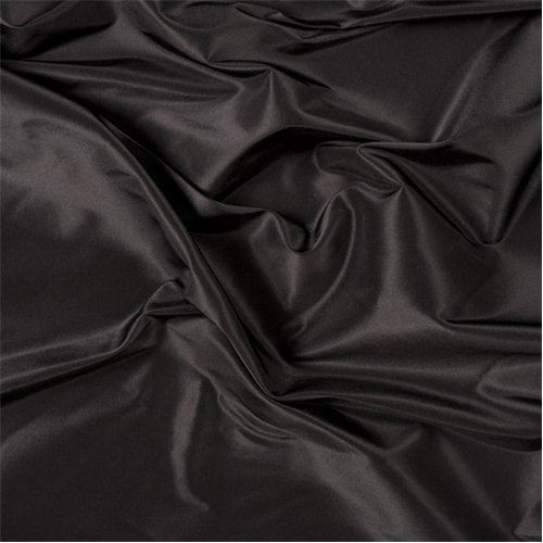 Black Silk Taffeta, Fabric By the Yard