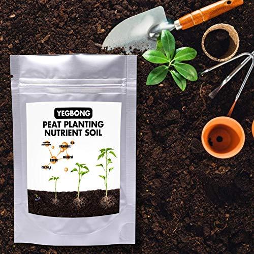 Opfury Nährstoffboden, Gemischter Blumenerde, Natürlicher Bonsai Mix Torfboden, Gemüsesämling Pflanzenanbau Boden, 0.5QT / 1Q
