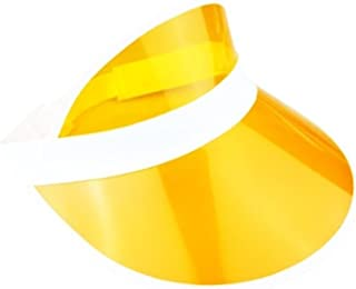 WickedFun® Unisex Retro 80s Neon Sun Visor Hat Headband Cap for Golf Tennis Stag Poker Party