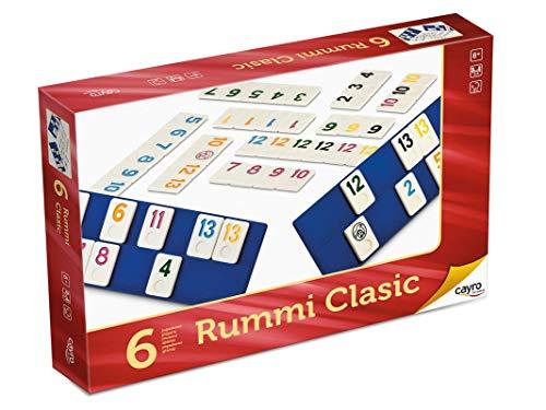 Cayro - Rummi Clasic 6 Jugadores Grande - Juego Tradicional - Juego...