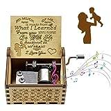 EQLEF Caja de Música de Madera, Caja de Música Vintage con Manivela de Mamá a Hija You Are My Sunshine Caja Clásica De Regalo para Cumpleaños y Navidad (2.5 * 1.9 * 1.4in)