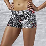 Reebok Damen Oberbekleidung Graffiti Collab Hot Shorts, schwarz, XS