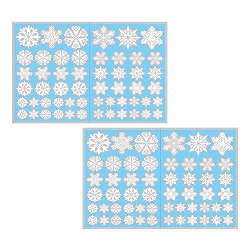 jemous raamstickers raamstickers decals muurstickers sneeuwvlokken electrisch zelfklevend afneembare kerstdecoratie 4 vellen voor ramen glazen ramen decoratie