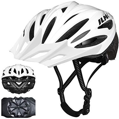 ILM Kids Youth Bike Helmet Bicycle Cycling Helmets Lightweight Quick Release Casco for Biking MTB (White, Small/Medium)