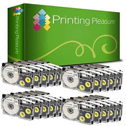 Printing Pleasure 20 x XR-9WE XR-9WE1 Negro sobre Blanco Cinta de Etiquetas Compatible con CasioKL-60 KL-100 KL-120 KL-200 KL-300 KL-750 KL-780 KL-820 KL-2000 KL-7000 KL-7200 KL-8100 | 9mm x 8m