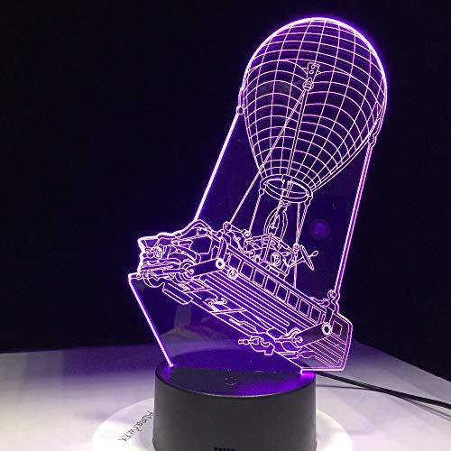 Regalo de recuerdo de autobús de batalla, 7 colores, mesa táctil, luz de escritorio, lámpara LED 3D, iluminación de ambiente de habitación de ilusión acrílica para fan del juego