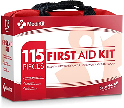 MediKit Deluxe First Aid Kit (115 Items) The Most Essential First...