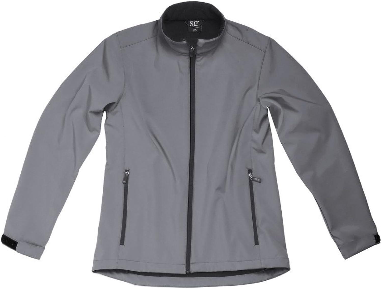 SG Softshell Jacke wasserdicht Neoprenanzug für Damen Stoff Schnittmuster für Damen-Oberteile Winter Klettverschluss am Handgelenk Taschen mit Reiverschluss