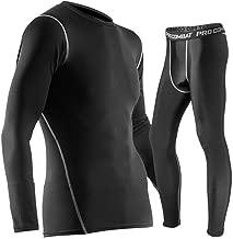 QWERBAN Winter Thermo-Unterwäsche-Sets Männer Quick Dry Antimikrobielle Stretch Männer Thermo-Unterwäsche Männer Warm Long Johns Fitness