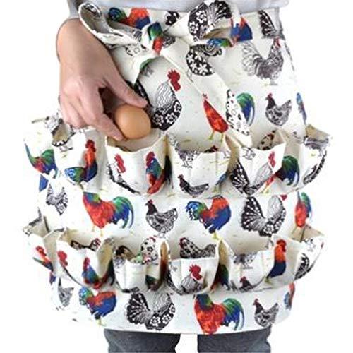 JOOBEE Eiersammelschürze mit mehreren Taschen für Hühner, Ente, Gänse, Eier, Hausfrauen, Bauernhof, Küche, Arbeitskleidung