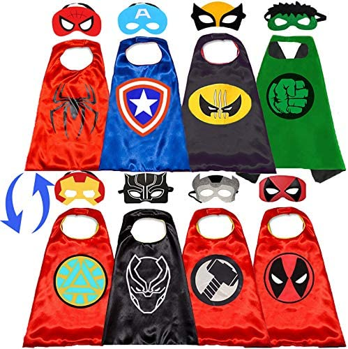 NuGeriAZ Superhero Capes for Kids Superhero Toys for Boys Halloween Dress Up Superhero Costumes product image