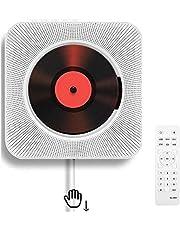 Bärbar CD-spelare, väggmonterbar, Bluetooth, inbyggda HiFi-högtalare, hemljud boombox med fjärrkontroll, FM-radio, USB, MP3, 3,5 mm hörlursuttag, AUX-ingång/utgång med dragströmbrytare