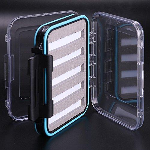 Neuf Maximumcatch 125 * 100 * 42 mm Plastique étanche double face clair fente en mousse Boîte à pêche Fly Box