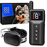 Enrivik Small Size Dog Training Collar with Remote - Perfect for Small Dogs 5-15lbs - Waterproof & 1000 Feet Range