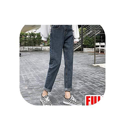 KKK-3boss Dames Jeans Vriendje voor Vrouwen Losse Jeans Hoge Taille Zwart Jean Femme Denim Broek Capris Lente