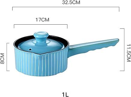Ceramic Casserole_Stew Pot Inicio Gachas Leche Taji Pot Salud Recipiente para el hogar Llama Abierta Gas