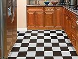 Achim Home Furnishings STT1M10320 Black & White Sterling x 12 Self Adhesive Vinyl Floor Tile-20 Tiles/20 sq. ft