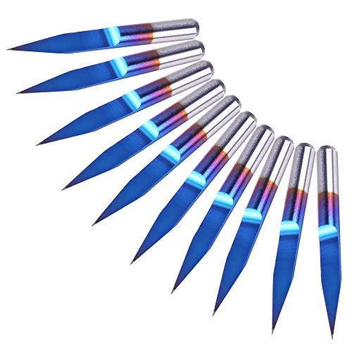 Broca de ranura de 30 grados V,0.1mm carburo PCB Nano Blue C