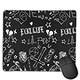 Mouse Pads Lil-Peep Tattoos Mouse Pad Custom Rectangle Non-Slip Rubber Base Mouse Mat Gaming Mouse Pads for Computers Laptop PC Keyboard 7.1 X 8.7 X Inches