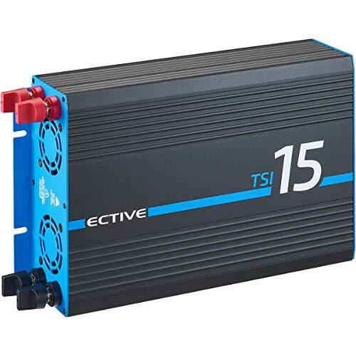 ECTIVE 1500W 12V zu 230V Reiner Sinus-Wechselrichter TSI 15 mit integrierter NVS- und USV-Funktion