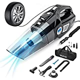 VARSK 4-in-1 Car Vacuum Cleaner, Tire Inflator Portable Air...