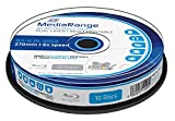 10 BLU-RAY - Mediarange BD-R DL 50 Gb, velocità 6x, stampabile full printable