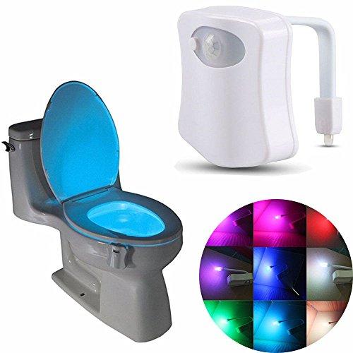 Desinger 1x Détection Automatique LED Motion Sensor Nuit 8 Couleurs Changement Bol de Toilette Lumière