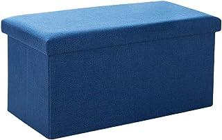 Xegood Boîte de Rangement,Pliable en Tissu de Lin Vêtements Paniers de Rangement avec Couvercle,Peut être utilisé comme Ta...