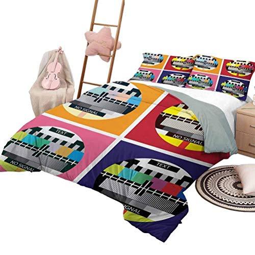 Juegos de ropa de cama de 3 piezas Colcha de mezcla de algodón suave y moderna para todas las estaciones Colcha tradicional romántica contemporánea Hojas de fondo Imagen tribal Tamaño completo Azul pá