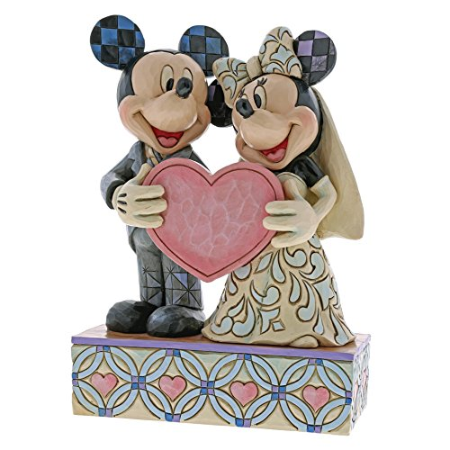 Disney Traditions Two Souls, One Heart - Mickey and Minnie Mouse Wedding Figur