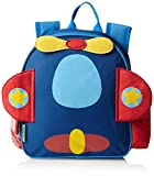 Stephen Joseph Children's Toddler Backpack - Aeroplane Kinder-Rucksack, 28 cm, 2 liters, Blau (Blue)
