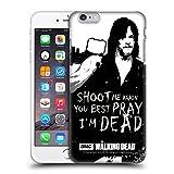 Head Case Designs Licenciado Oficialmente AMC The Walking Dead Disparar De Daryl Citas Carcasa rígida Compatible con Apple iPhone 6 Plus/iPhone 6s Plus