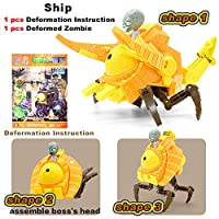 Zombies 2 Toys 5 In 1 Assembly Deformation Zombie BOSS Robot Doll PVZ Plants vs Zombies Educational Toys PVC Action Figure Model Toys KidGift