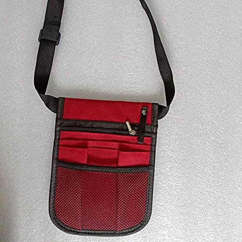 Bolso de la cintura Bolsa de la enfermera bolsa de la cintura de la cintura de la cintura de la bolsa de la bolsa de la cintura del veterinario de la bandera del bolsillo Organizador de la selección d
