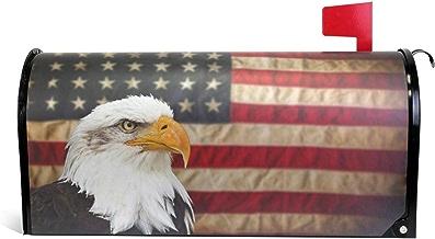 senya Magnetic Large Mailbox Cover Bald Bird with American Flag, Oversized