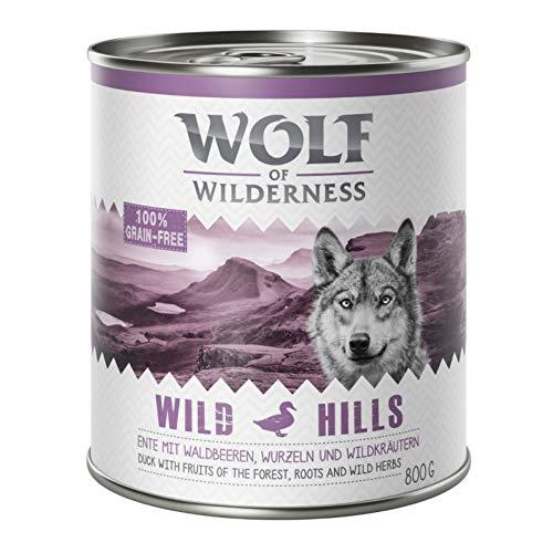 Wolf of Wilderness Erwachsene Sparpack 24 x 800 g – Wild Hills – Ente