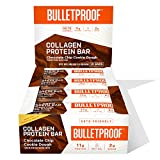 Collagen Protein Bars, Chocolate Chip Cookie Dough, 11g Protein, 12 Pack, Bulletproof Grass Fed Healthy Snacks, Made with MCT Oil, 2g Sugar, No Added Sugar