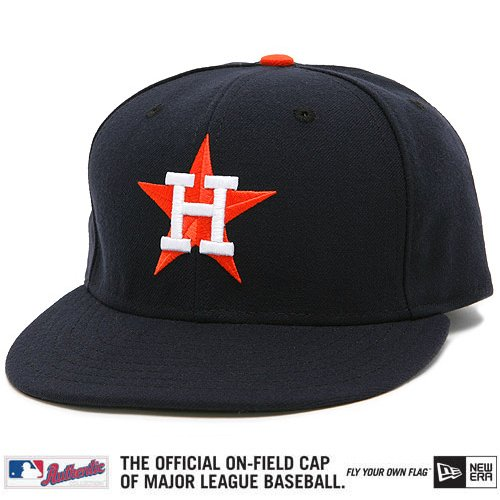 New Era MLB Houston Astros 1964-70 Throwback Cooperstown On-Field Performance Fitted Hat - Navy Blue (7 1/8)